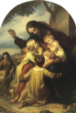 Jesus with the Children Arched Magnet