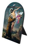 St. Francis with Christ Arched Desk Plaque