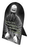 St. Maximilian Kolbe Arched Desk Plaque