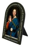 Madonna of the Host Prayer Arched Desk Plaque