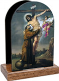 St. Francis with Christ Table Organizer (Vertical)