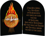 Come Holy Spirit Table Arched Diptych