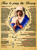 How to Pray the Rosary Poster