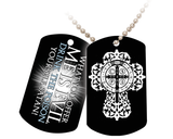 Benedictine Cross Dog Tag