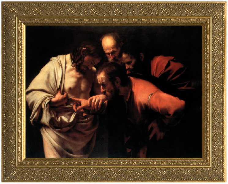 St Thomas By Caravaggio Gold Framed Art Catholic To