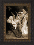 Song of Angels by Bouguereau - Sepia Framed Art
