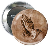 Hands in Prayer Button