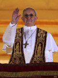 Pope Francis giving Blessing Poster