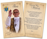 Pope Francis Commemorative Holy Card