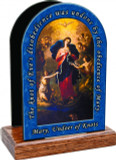 Mary Undoer of Knots Table Organizer (with prayer)