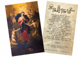Mary Undoer of Knots Pope Francis' Prayer Holy Card