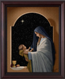 Sacred Communion - Nellie Edwards Cherry Framed Art