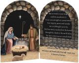 """Adoration (Nativity)"" by Nellie Edwards Arched Diptych"