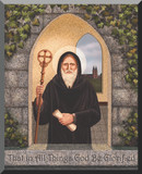 """""""St. Benedict"""" by Nellie Edwards Wall Plaque"""