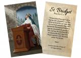 """St. Bridget of Sweden"" by Nellie Edwards Holy Card"