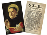St. Thomas Aquinas Holy Card