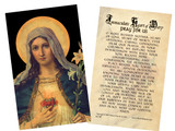 Antique Immaculate Heart Holy Card