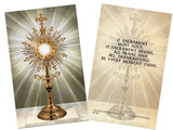 Monstrance Holy Card
