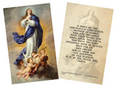 Immaculate Conception Holy Card