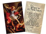 St. Michael the Archangel Holy Card