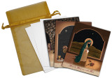 Nellie Edwards Assorted Christmas Card set of 12: Mother of Life, Adoration, Sacred Communion
