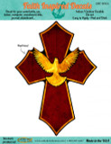 Holy Spirit Dove Cross Decal
