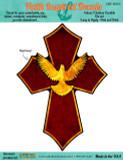 Holy Spirit Dove Cross Decal