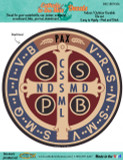 Benedictine Medal Decal