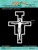 San Damiano Cross (White) Decal