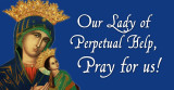 Our Lady of Perpetual Help Vinyl Bumper Sticker