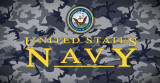Navy Vinyl Bumper Sticker