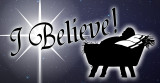 I Believe Vinyl Bumper Sticker