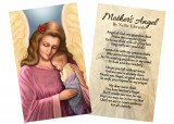 """Mother's Angel"" by Nellie Edwards Holy Card"
