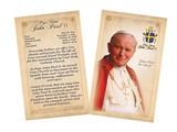 Pope John Paul II Sainthood Commemorative Holy Card with Prayer