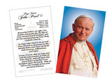 Pope John Paul II Sainthood Portrait Prayer Holy Card