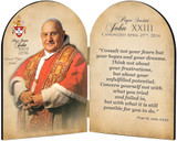 Commemorative Pope John XXIII Sainthood Quote Arched Diptych