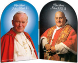 Pope John Paul II and John XXIII Sainthood Arched Diptych