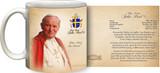 Pope John Paul II Sainthood Portrait Commemorative Prayer Mug