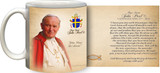 Pope John Paul II Sainthood Portrait Commemorative Quote Mug