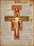 Spanish San Damiano Cross Explained Poster