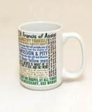 Saint Francis of Assisi Quote Mug