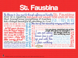 Saint Faustina Quote Poster