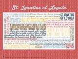 Saint Ignatius of Loyola Quote Poster