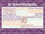 Saint Kateri Tekakwitha Quote Poster