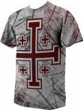 Crusader Cross Graphic Poly T Shirt