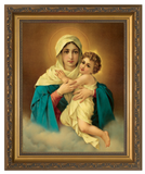 Schoenstatt Madonna Canvas - Gold Framed Art
