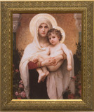 Madonna of the Roses - Gold Framed Art