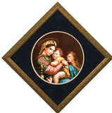 Madonna della Seggiola (Madonna of the Chair) Matted - Gold Framed Art