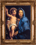Madonna and Child by Maratta - Gold Museum Framed Canvas