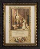 Memorial Certificate of Marriage (From Original Lithograph) - Ornate Dark Frame